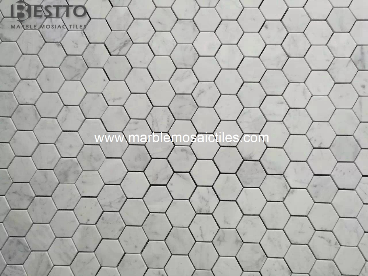 Carrara Hexagon Mosaic