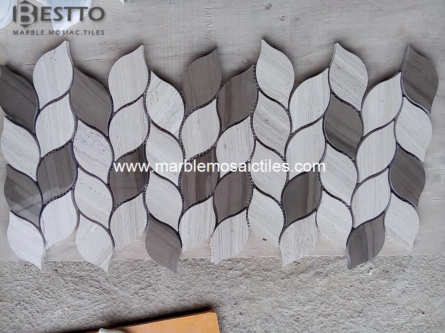 White wood and Athen wood Mosaic Tiles