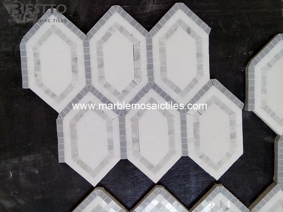 Carrara Hexagonal Mosaic