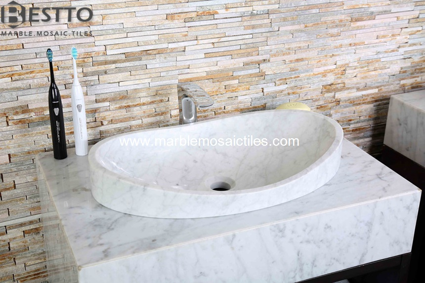White carrara Vanity tops & basin