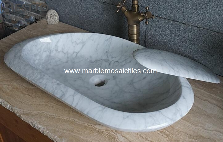 White Carrara sinks