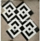 Thassos White and Black Marquina Interlock Mosaic