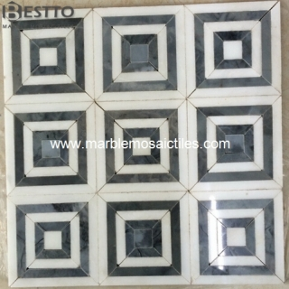 royal white mosaic tiles