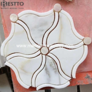 Flower Waterjet Mosaic Tiles Suppliers