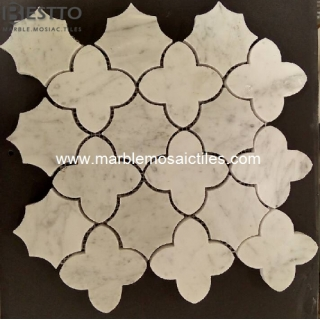 Carrara white Flower Mosaic