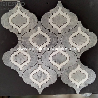 Marble Arabesque Waterjet Mosaic