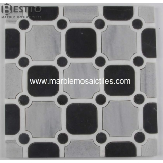Checkerboard Water Jet Mosaic