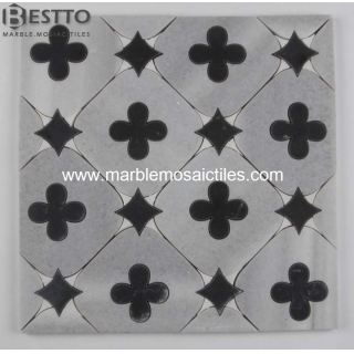 Four Leaf Clover & Star waterjet mosaic Suppliers