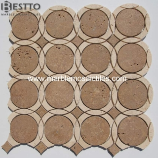 Moonshine dark beige waterjet mosaic Suppliers
