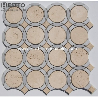 Moonshine cream waterjet mosaic Suppliers