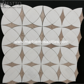 Bianco Dolomiti Waterjet Mosaic Suppliers