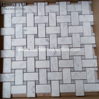 Basketweave mosaic Tile