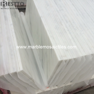 Carrara White Polished Tiles