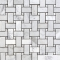 White Carrara Basketweave Mosaic