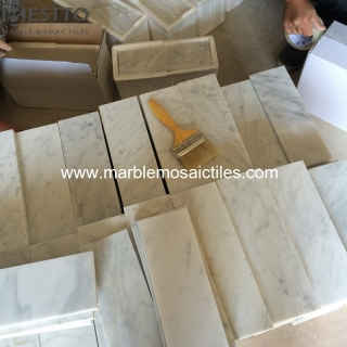 Carrara White Honed Tiles