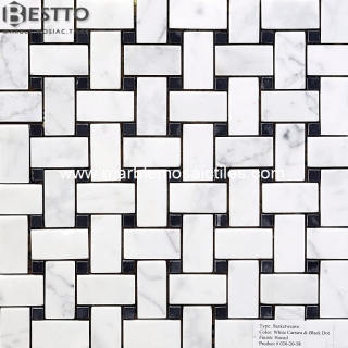 Carrara Basketweave Mosaic Manufacturers