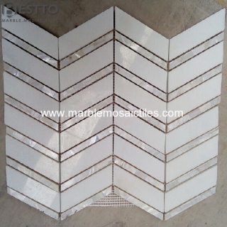 Thassos white mixed shell mosaic Suppliers