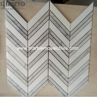 Thassos Chevron Mosaic Suppliers