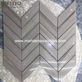 Athen Wood Chevron Mosaic Suppliers