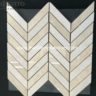 Beige Marble Chevron Mosaic Suppliers
