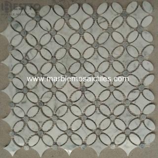 Carrara Flower Mosaic Tile Manufacturers