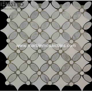 Statuary White Flower Mosaic Tile Manufacturers
