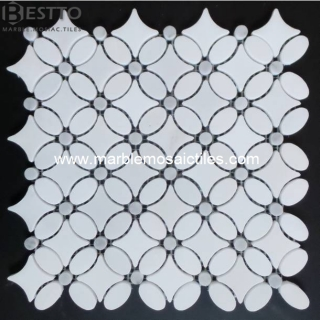 Thassos White Flower Mosaic Tile Manufacturers