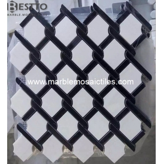 Thassos and Black marquina Argyle Pattern Manufacturers