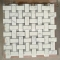 Carrara Basketweave mosaic tile