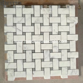 Carrara Basketweave mosaic tile Manufacturers