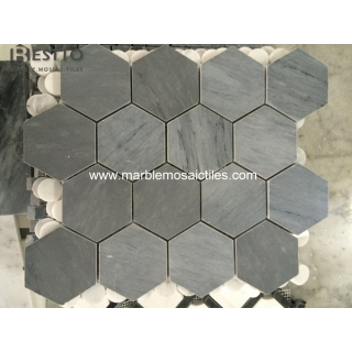 Italy Bardiglio Hexagonal Mosaic Suppliers