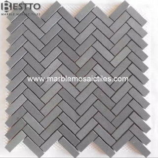 Top Quality Grey Basalt Herringbone Mosaic