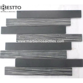 Honed and Chiseled Grey Basalt Mosaic Suppliers