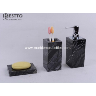 Tree Black marble bathroom sets Suppliers