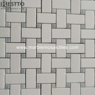 Thassos White Basketweave mosaic Suppliers