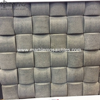 Grey Basalt  Square Bread Mosaic