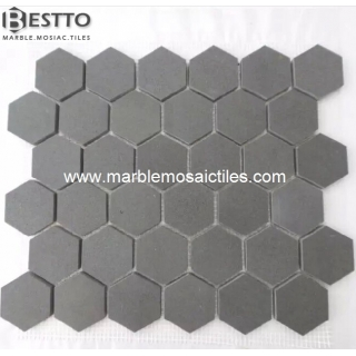 Grey Basalt Hexagonal Mosaic