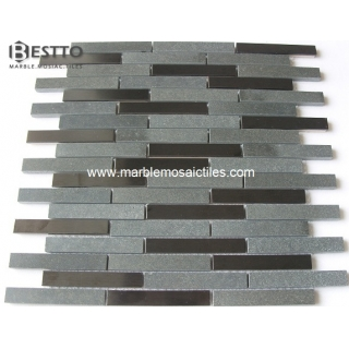 Black Basalt Rectangle Mosaic