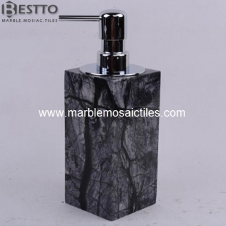 Tree Black marble soap dispenser Suppliers