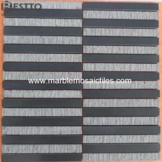 Honed Grey Basalt Mosaic