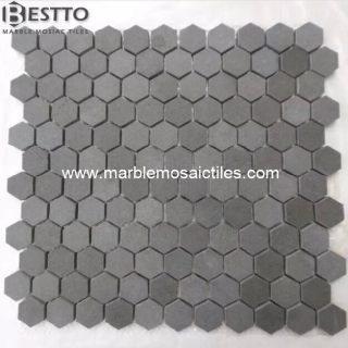 Grey Basalt Hexagonal Mosaic 1'' Suppliers