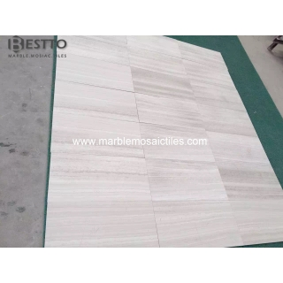 Top Quality White Wooden Marble Tile