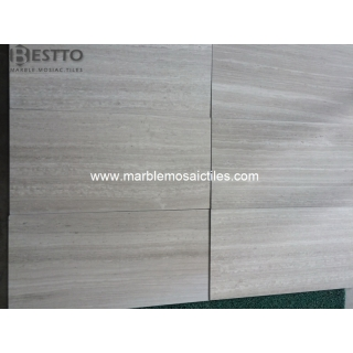Top Quality Honed White Wood Tiles