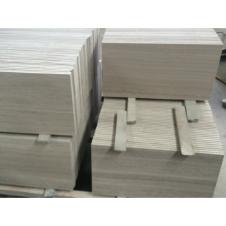 Top Quality Honed White Wood Marble Tiles