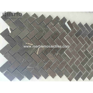 Top Quality Pietra Grey  Herringbone Mosaics
