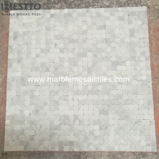 Carrara Square Mosaic tumbled