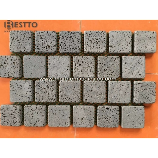 Lava Tumbled Square Mosaic Suppliers
