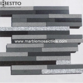 Basalt mixed with Granite Mosaic Suppliers