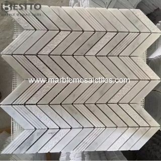 Carrara Fishbone Mosaic Tile Suppliers