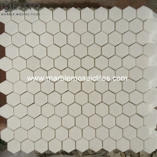 Thassos White Hexagon  Mosaic
